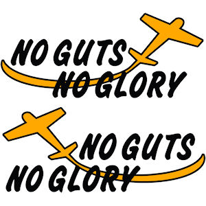 00023<br>NO GUTS NO GLORY<br>Set of 2