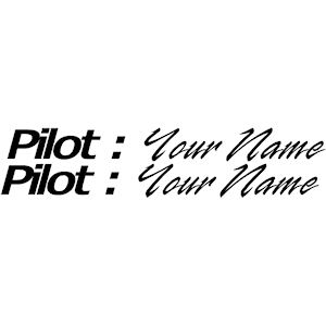 00112<br>Pilot-YOUR NAME<br>Set of 2