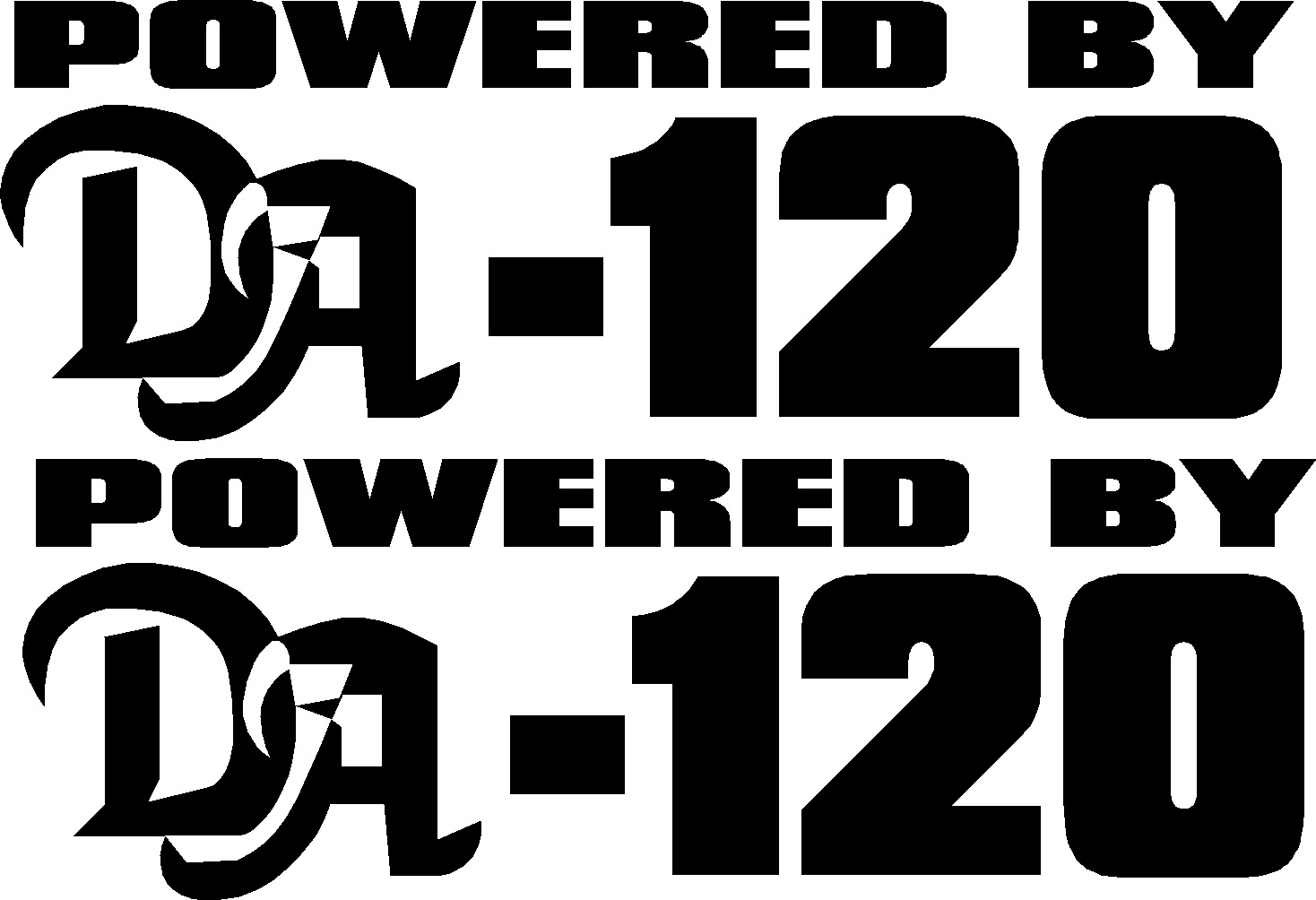 00538 <br>Powered By DA-120<br>Set of 2