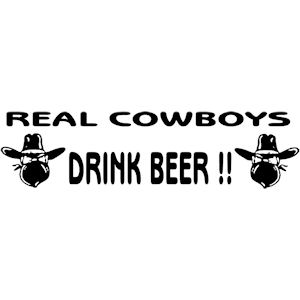 146<br>Real Cowboys Drink Beer
