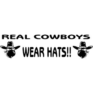 147<br>Real Cowboys Wear Hats