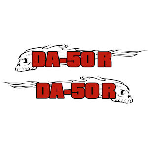 28<br>DA-50 R Scull In Flames<br>Set of 2