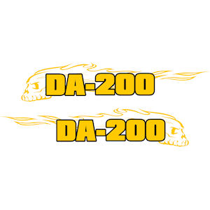 34<br>DA-200 Scull In Flames<br>Set of 2